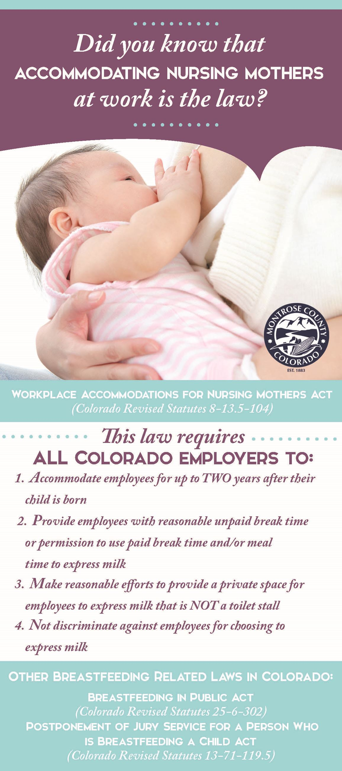 Breastfeeding Law Info Card Pg 1