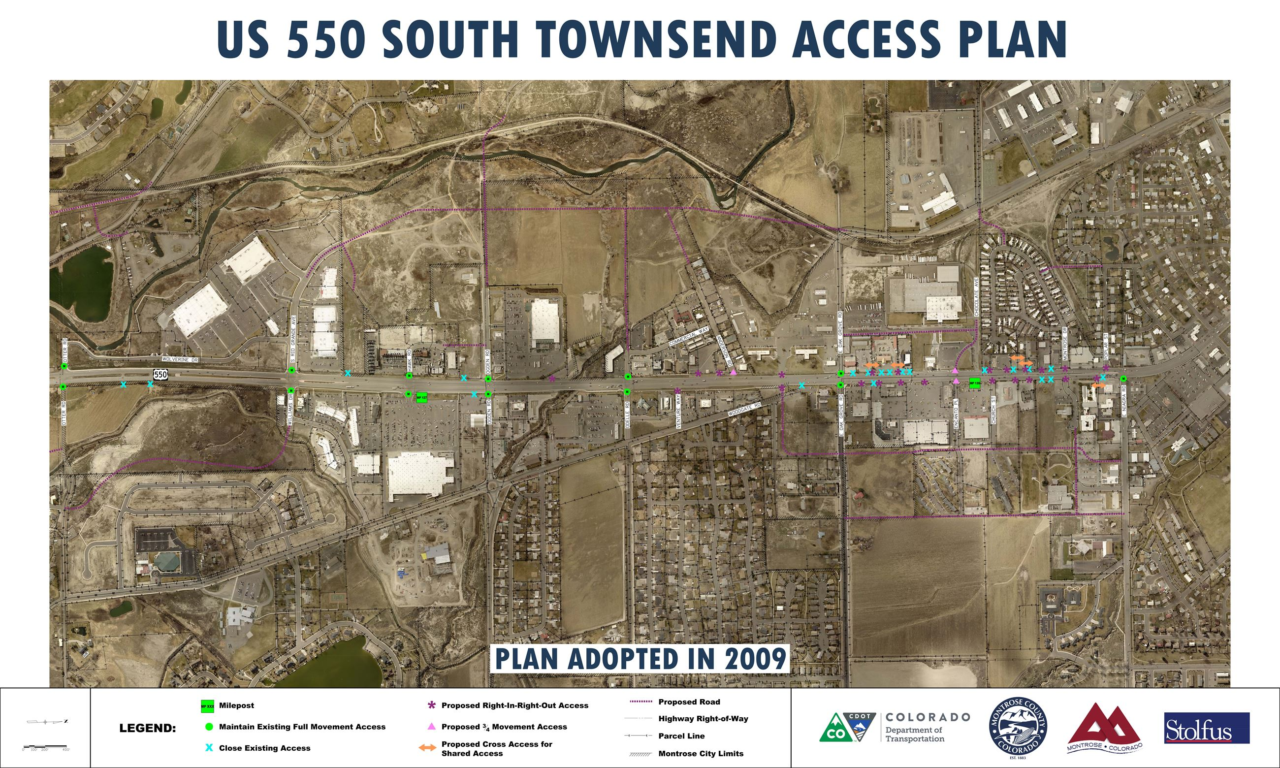 11- US 550 South Townsend Access Plan Roll Plot_36x60