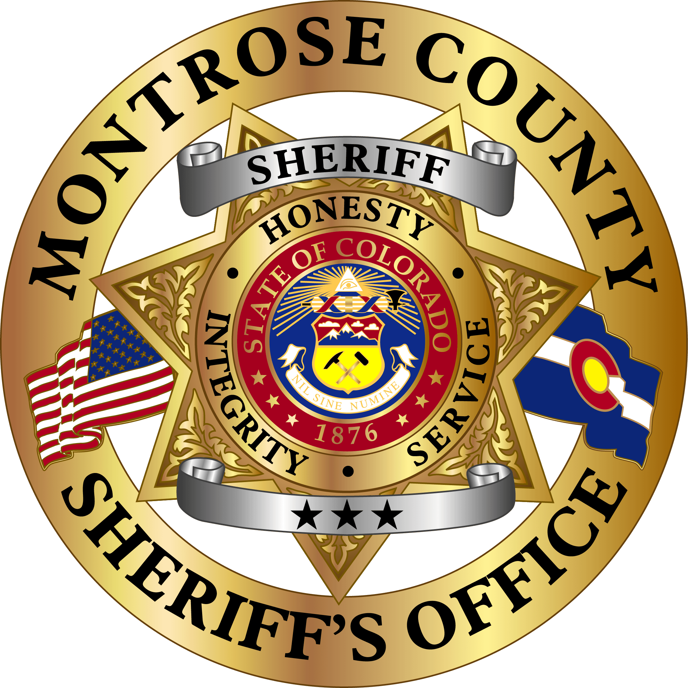C-158444 Montrose County Sheriff Badges Colorado AR 2